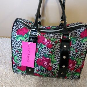 Betsey Johnson Studded Satchel Bag NWT